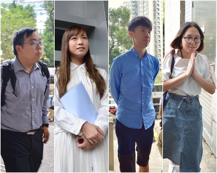 """香港""""辱国议员""""冲击立会案量刑:梁游等人获刑4周"""