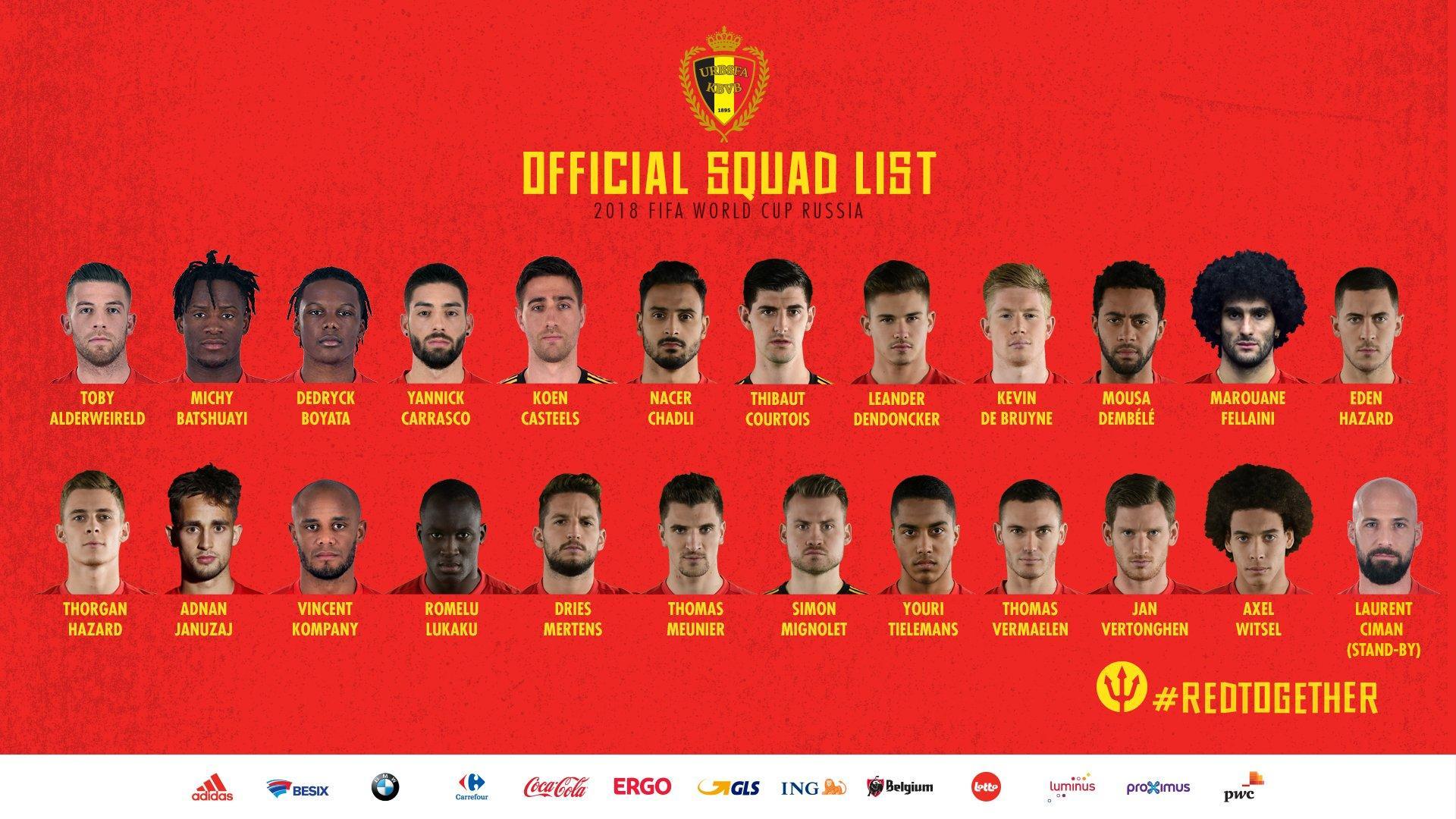 比利时23人名单:中超2将入选 本特克小卢卡库落选
