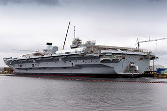 进度紧追中国航母:英军第二艘航母完成建造