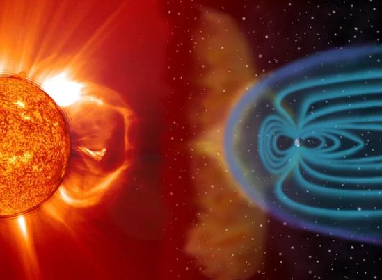 """美研究员揭示了太阳风与地球磁场""""交锋"""""""