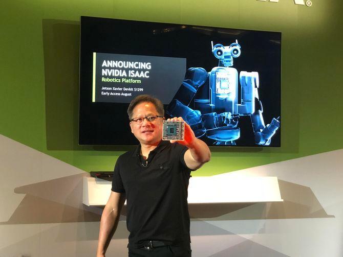 英伟达布局机器人领域 推出专用芯片及平台