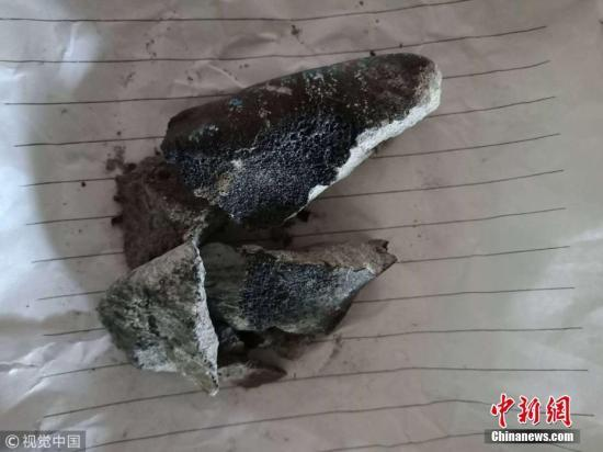 """云南坠落陨石引民众田间""""寻宝"""" 170克被标价60万"""