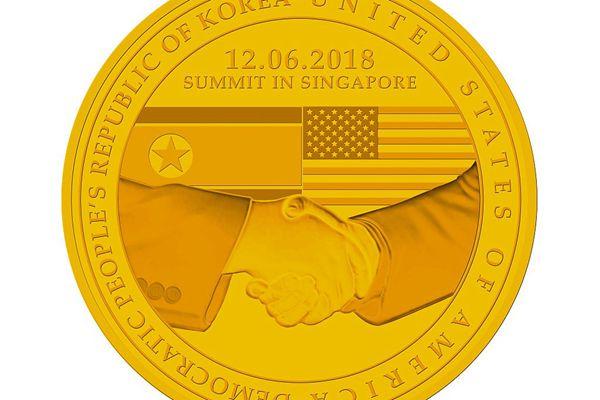 """新加坡推出""""特金会""""金银铜纪念章 金章限量1000枚"""