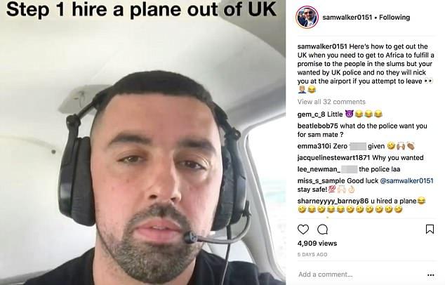 英男子网上炫耀逃脱警方追捕过程 嘲笑英警察无能