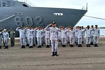 马来西亚菲律宾海军出发参加环太平洋军演