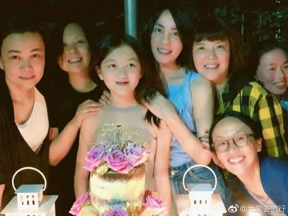 王菲为女儿李嫣庆生贴脸亲吻 打脸所谓妈妈不管孩子传闻