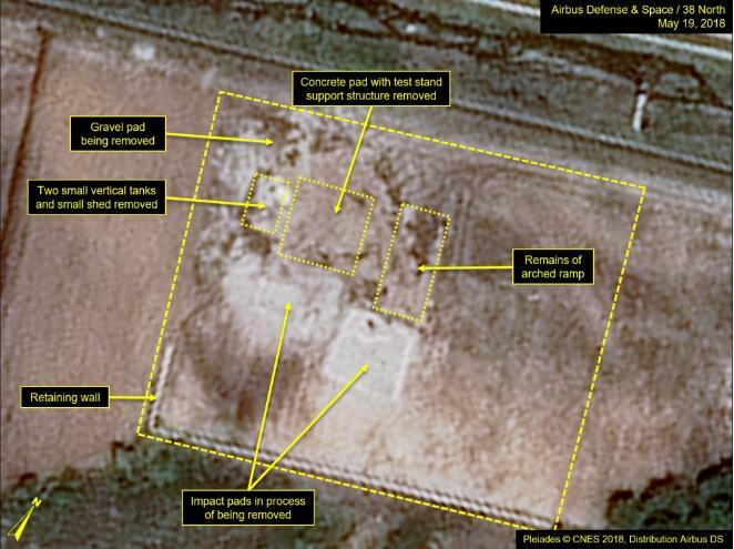 美媒:朝鲜5月拆除导弹试验场设施