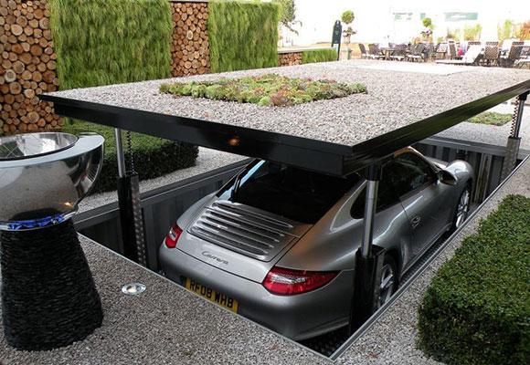 解锁富豪停车新方式 垂直车库单一车道可容纳两辆车