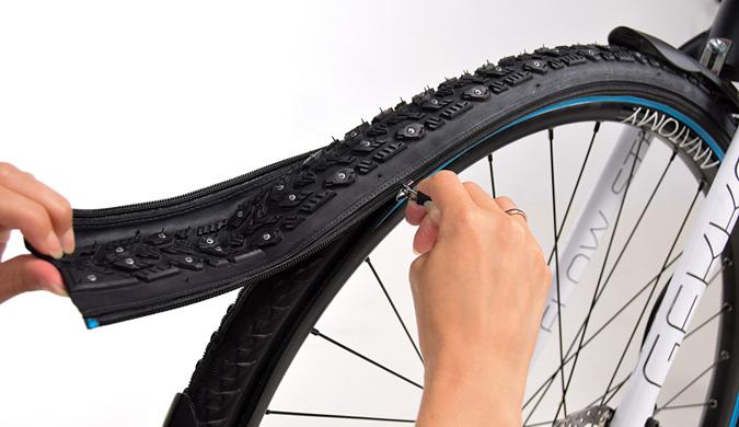 """挪威公司发明可""""换肤""""轮胎 拉链拆卸仅需几秒"""