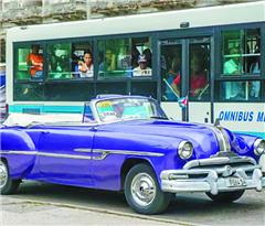 """""""老爷车"""" 在古巴当出租"""