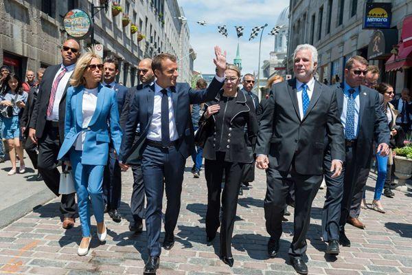 马克龙偕爱妻将出席G7峰会 逛街逛博物馆向民众挥手致意