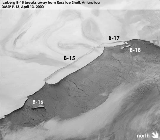 NASA称有史以来最大的冰山正在消失
