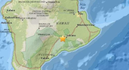 美国夏威夷发生5.5级地震 震源深度5.6公里