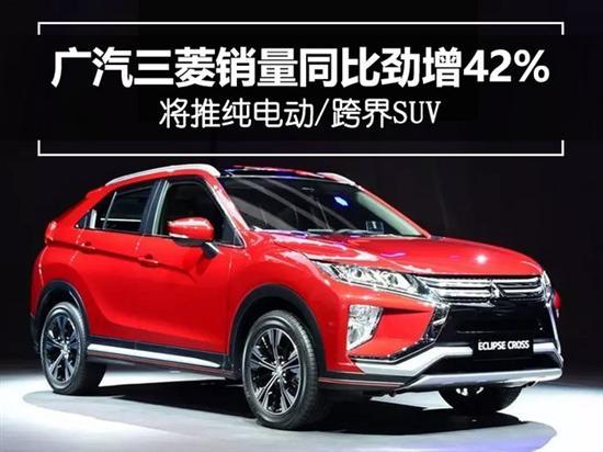 广汽三菱销量同比劲增 将推纯电动/跨界SUV