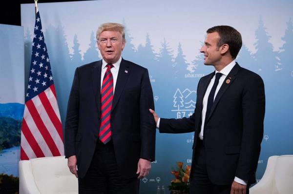 """""""复仇大成功!""""——这次G7峰会,马克龙将特朗普攥出了白手印"""