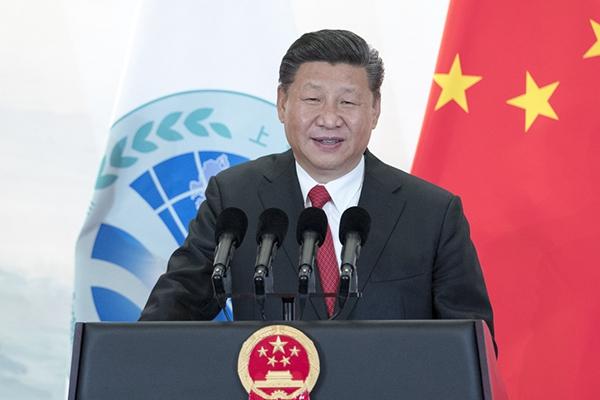 习近平欢迎出席上海合作组织青岛峰会的外方领导人