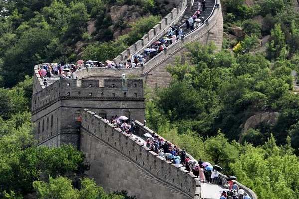 北京八达岭长城进入旅游旺季