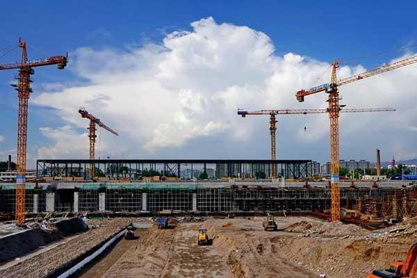 京张高铁张家口南站建设稳步推进