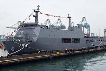 这南美小国新建万吨大舰正式交付 技术来自韩国