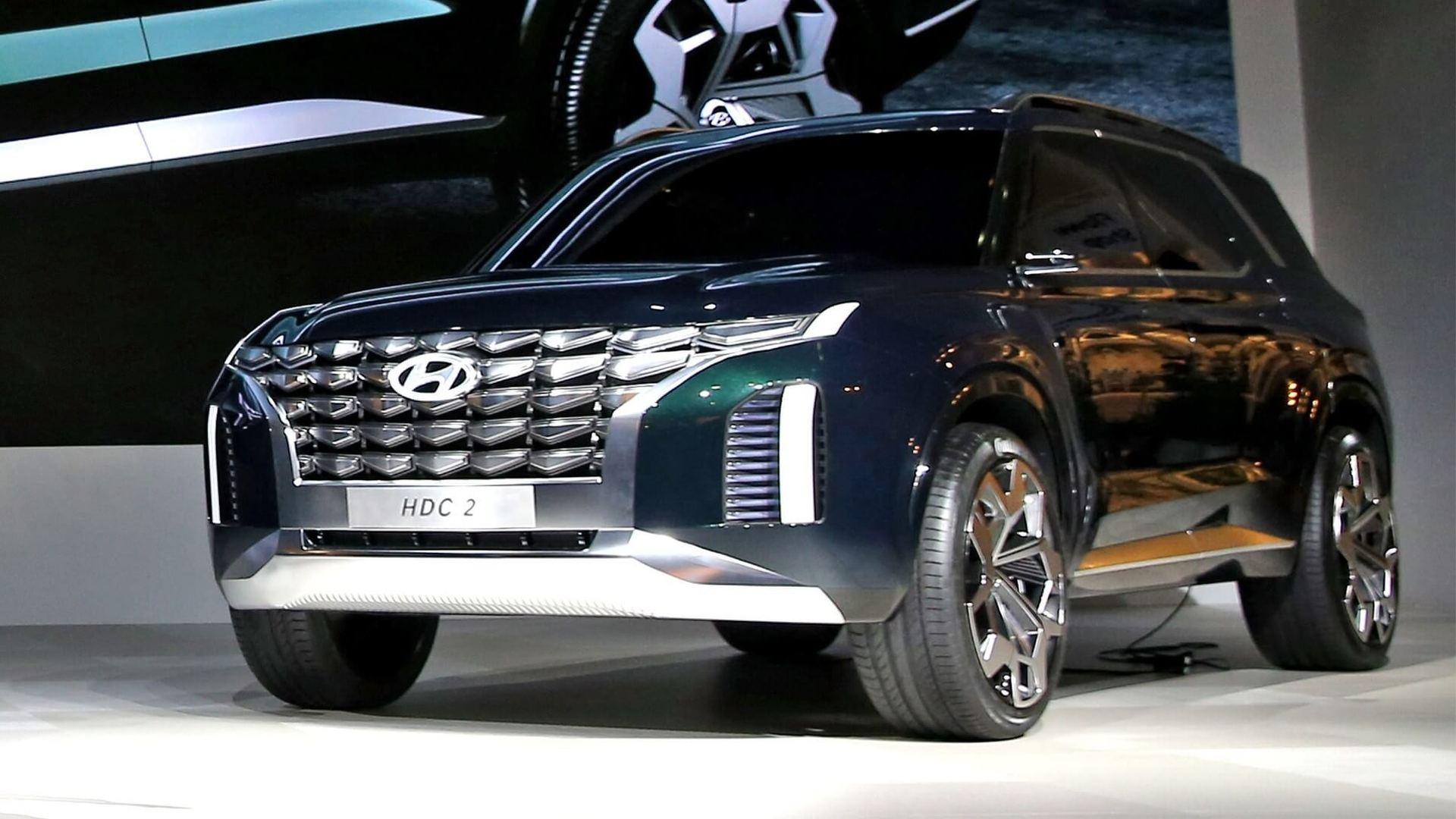 现代全新大型SUV概念车亮相釜山车展 量产车前瞻