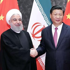 习近平同伊朗总统鲁哈尼举行会谈