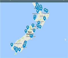 """""""新西兰鲨鱼袭人地点图""""发布:这些海滩有危险"""