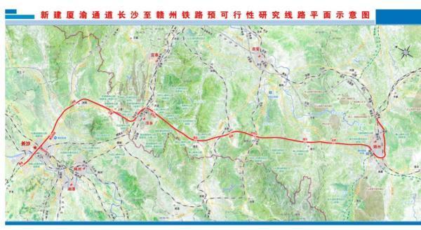 吉安官方报告披露厦渝通道长赣段预可行线路,江西境内设9站