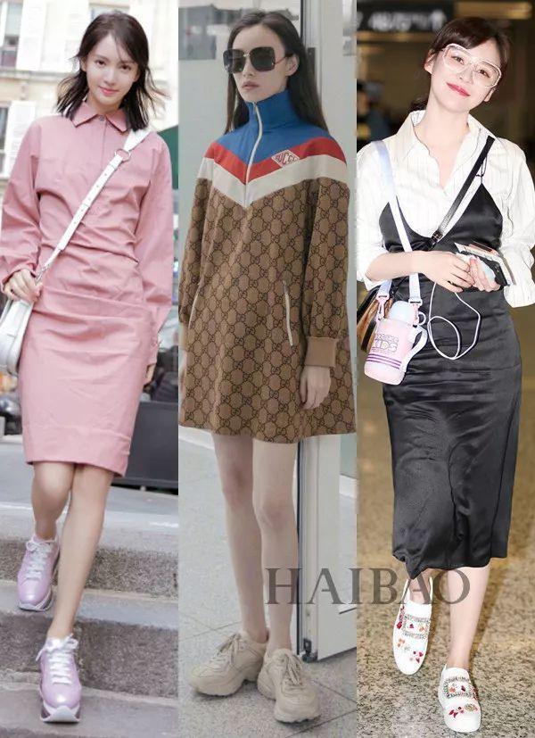 连衣裙+平底鞋,像刘雯这样时髦的女生都爱穿!