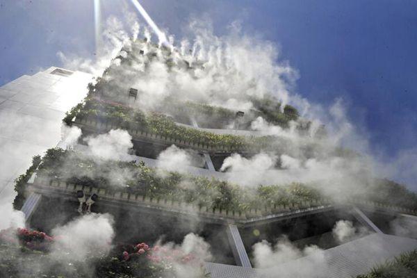 西安10层高楼成网红 垂直绿化仙气飘飘