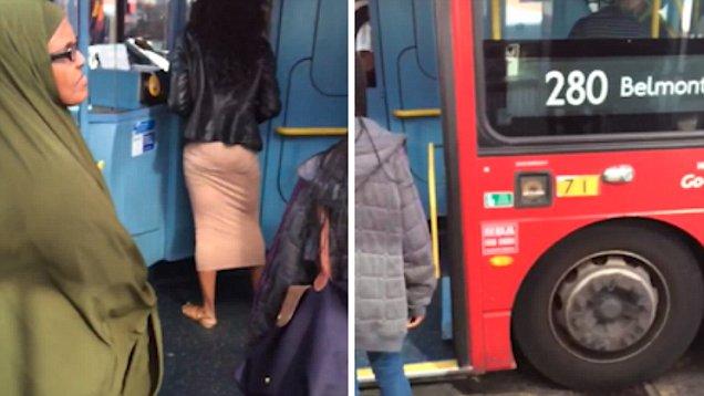 英女子因公交司机误关车门对其进行言语侮辱