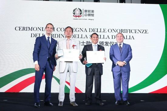 天赐国际控股集团董事长杨长林获意大利骑士勋章