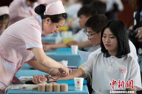 前五月全国596.5万人次无偿献血 采血量达2065吨