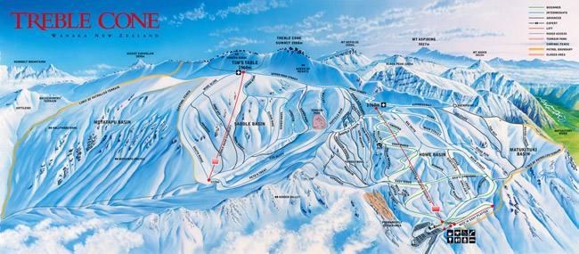 夏季滑雪高手的朝圣地 新西兰Treble Cone滑雪场
