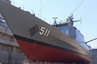 泰国海军中国造近海巡逻舰返厂维修