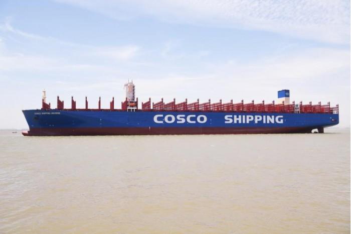 """世界最大级别集装箱船""""宇宙号""""交付 装箱量超2万个"""