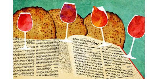 逾越节必备:圣经,葡萄酒,无酵饼