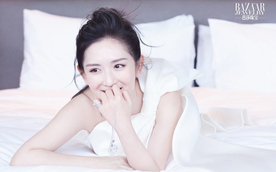 辣妈谢娜演绎珠宝大片 清新灵动尽显少女味