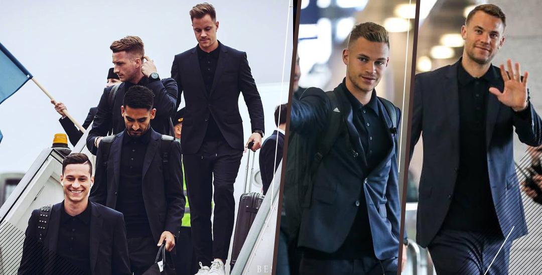 """德国队抵达俄罗斯机场 """"男模天团""""已上线"""