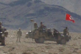 澳大利亚军车被曝悬挂纳粹旗帜 高层震怒