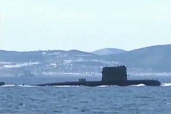 央视新闻曝光海军新型潜艇 参加实训突击