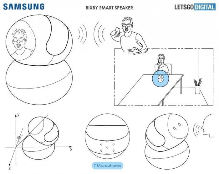 三星智能音箱曝光:360度旋转扬声器+抚摩屏