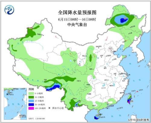 海南等地将有较强降水 东北地区多雷雨局地有强对流