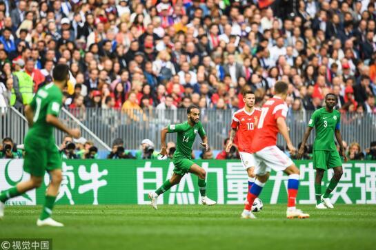 加津斯基首球切里舍夫2球 2018俄罗斯世界杯揭幕战东道主5-0大胜沙特