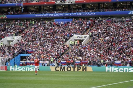 海信世界杯首秀出奇招 打出俄文广告赚足眼球