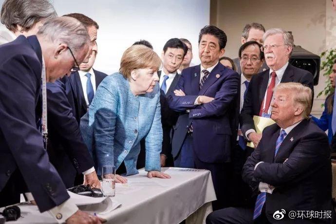G7峰会期间那张著名的刷屏照片......反转了?