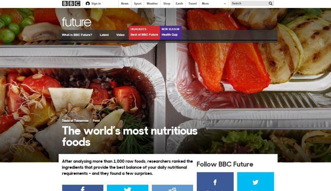 "BBC评了""十大最有营养食物"" 肥猪肉竟然上榜了"