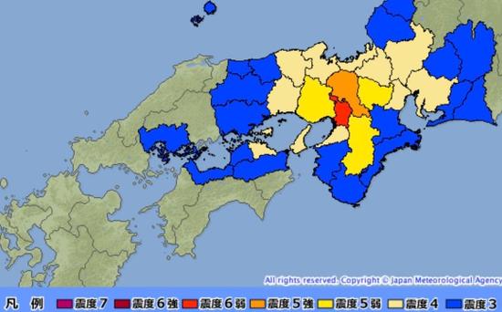 多图|强震袭击日本大阪:多达17万户停电 不会引发海啸
