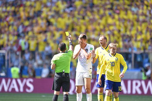 VAR技术再抢镜 瑞典队1-0点杀韩国