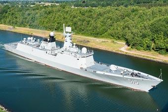 """颜值担当!我军054A舰抵达德国参加""""基尔周"""""""