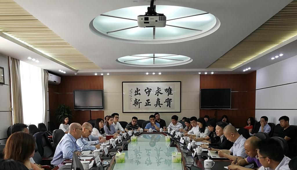 隆国强副主任会见中国美国商会主席蔡瑞德一行
